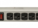 Woods 41551 6-Outlet Metal Power Strip with 8-Foot Cord, (Light Grey)